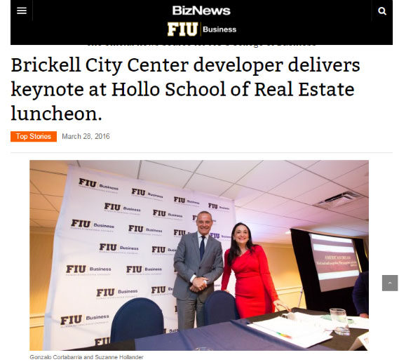 In BizNews! Suzanne Hollander Moderates Billion $ Developer Panel: Swire Properties' Brickell City Center
