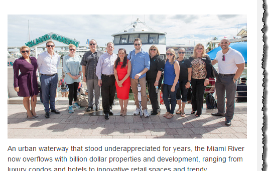 Suzanne Hollander Leads Miami Urban Property Development Billion Dollar Boat Tour with Real Estate Industry Leaders