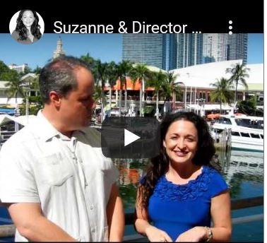 Suzanne Hollander Leads Miami Downtown MIami River Development Boat Tour with Brett Bibeau Director Miami River Commission Professor Real Estate