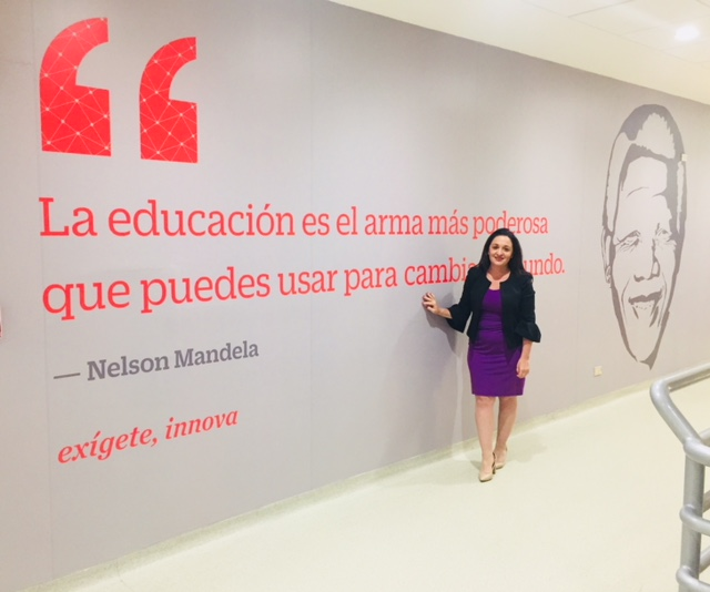 Suzanne Hollander Stands Beside and Believes Nelson Mandela's Quote, Education is the Most Powerful Weapon You Can Use to Change the World