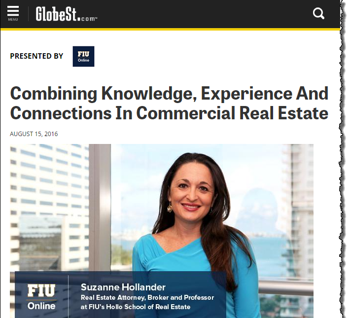 Globe Street Features Suzanne Hollander Combining Knowledge, Real Estate and Connections in Real Estate