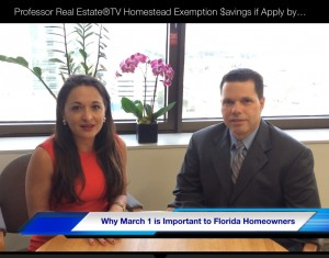 Suzanne Hollander and Miami Dade Property Appraiser Lazaro Solis Discuss Marcch 1 Deadline to File for Homestead and Other Property Tax Exemptions Professor Real Estate