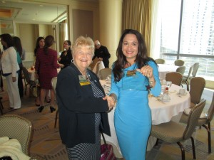 Marti Mang Congratulates Suzanne Hollander for Winning Mentor of the Year Commericial Real Estate Women Miami Professor Real Estate