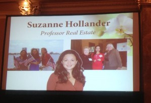 Suzanne Hollander Honored as Finalist for AXA Business Woman for Providing Real Estate Education Professor Real Estate