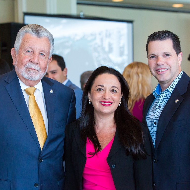 Suzanne Hollander Discusses Property Taxes with Miami Dade Property Appraiser Pedro Garcia and Deputy Property Appraiser Lazaro Solis