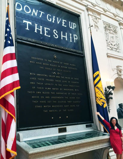 Don't Give up the Ship! Suzanne Hollander On Site: U.S. Naval Academy