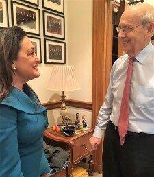 Attorney Suzanne Hollander U.S. Supreme Court Justice Breyer Guest at Supreme Court