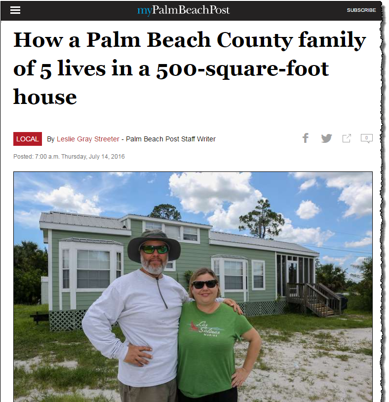 In News! Palm Beach Interviews Suzanne Hollander re Tiny Houses, Micro Units, Micro Condos