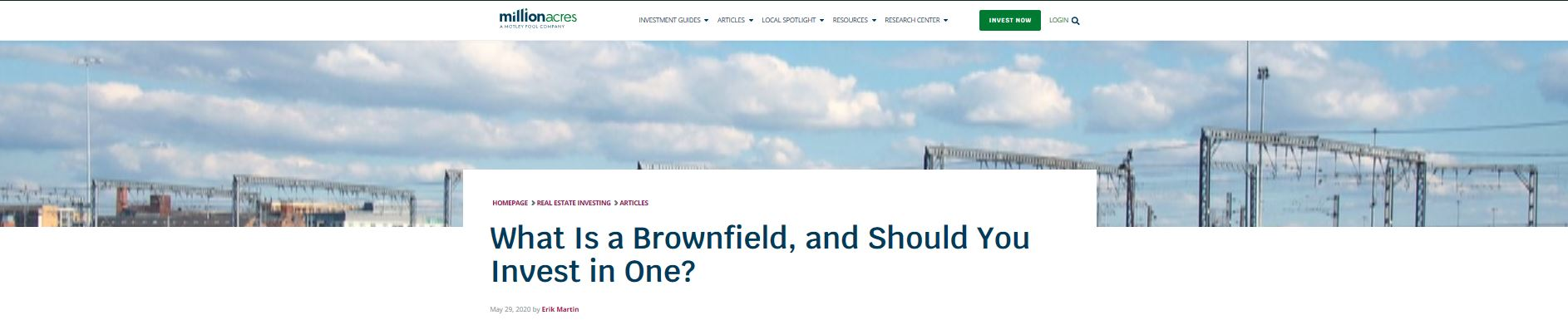 Suzanne Hollander discusses What is a Brownfield Property and Should you Invest in One