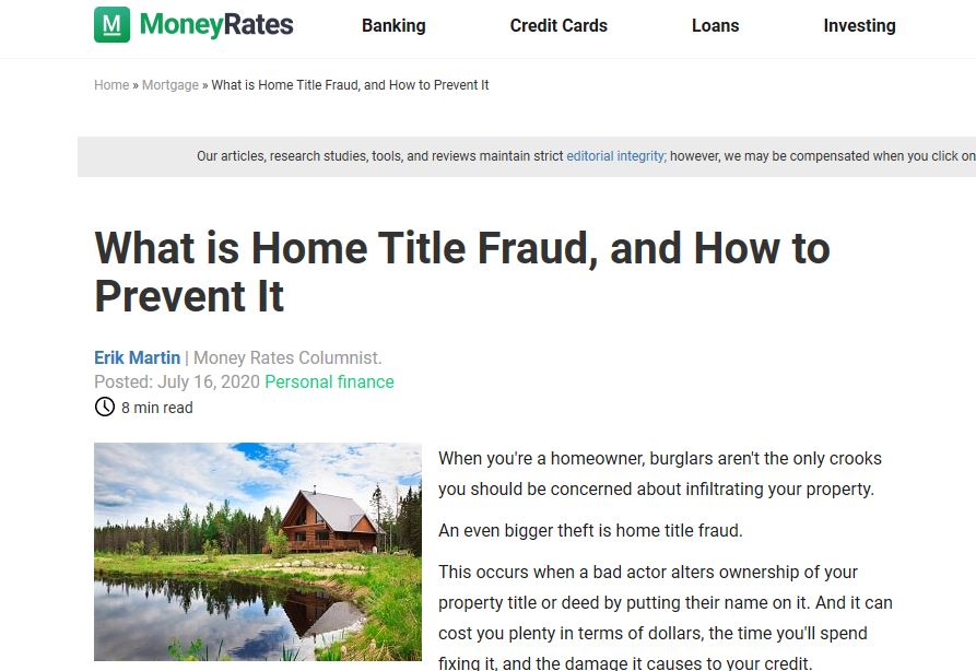 Professor Real Estate Suzanne Hollander Discusses Deed Fraud and Title Fraud and How to Protect and Prove Property Ownership - Is Someone Stealing Your Property