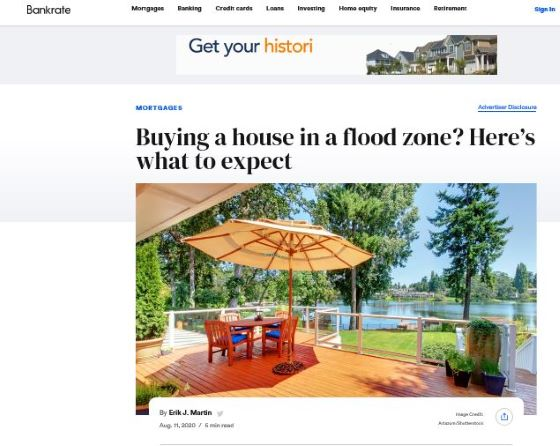 Suzanne Hollander's Comments on Buying Property in Flood Zones