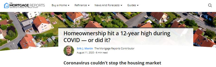 Suzanne Hollander Comments on Rise of Homewonership During COVID Census Bureau Report