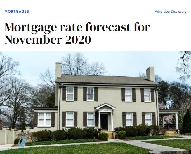 National Real Estate News - Professor Real Estate Suzanne Hollander Expert Comments on Mortgage Interest Rates for November 2020