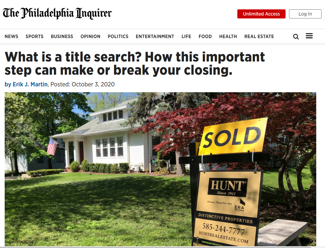 What is a Title Search - Professor Real Estate Suzanne Hollander comments