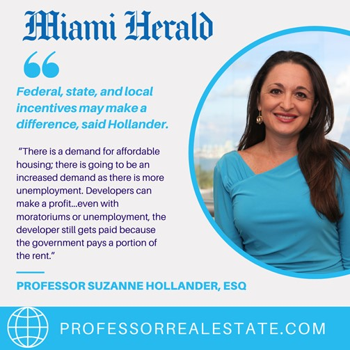 Miami Herald Quotes Suzanne Hollander on United States Demand for Affordable Housing