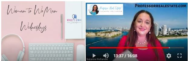 Suzanne Hollander Interview on Tips for Success in Commercial Real Estate by Women to Women Wednesday Pam Scamardo